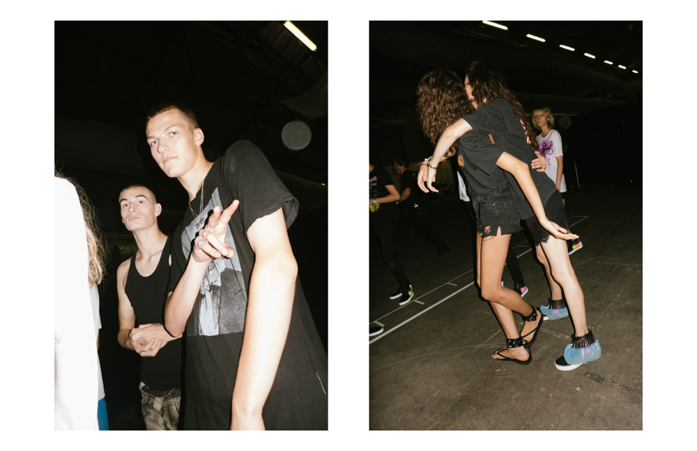 Backstage : Alexander Wang spring-summer 2017 fashion show