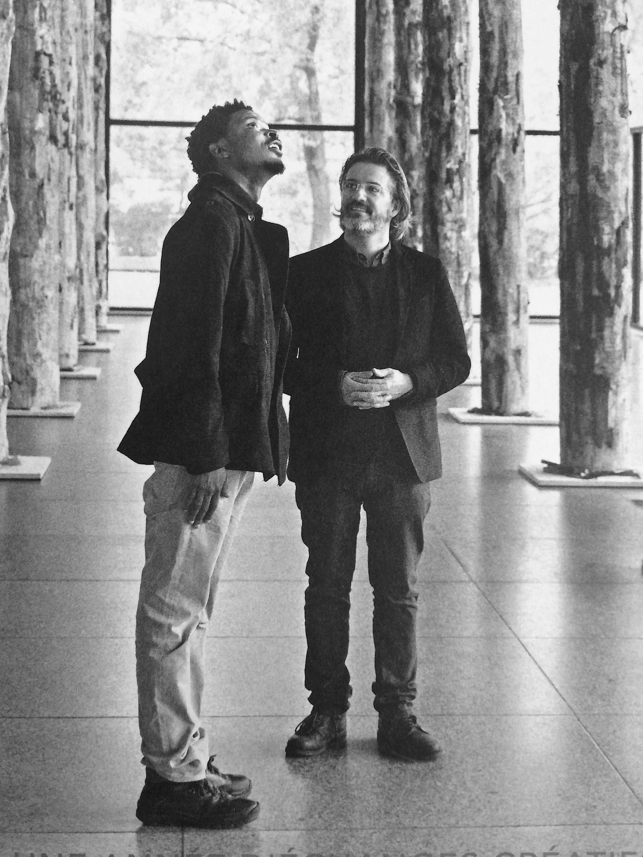 Sammy Baloji and Olafur Eliassonphotographed at the Neue Nationalgalerie inBerlin. ©Rolex/Tomas Bertelsen