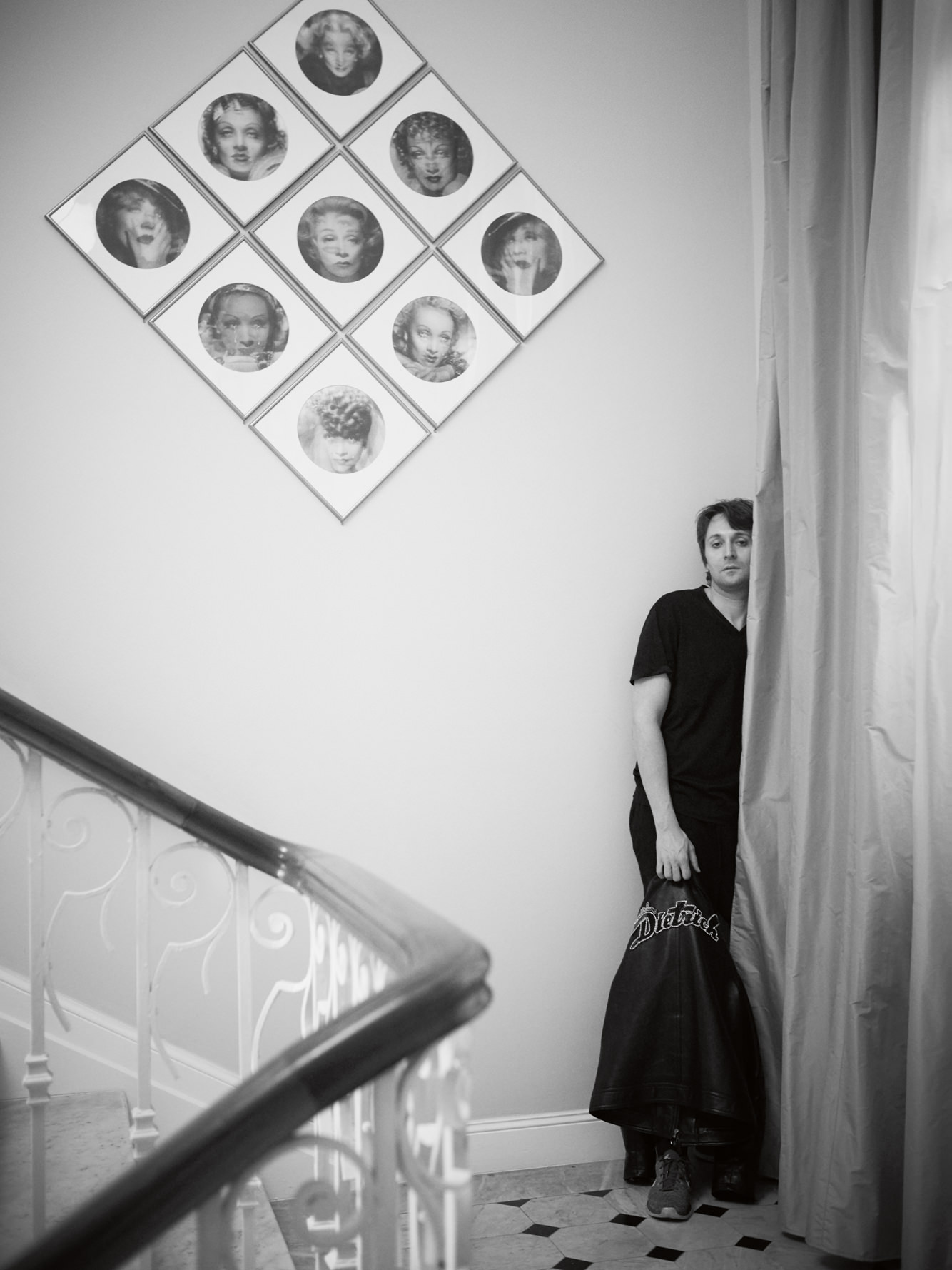 Francesco Vezzoli photographed at the opening organised byPrada at the Villa Sauber. Photo: Stéphane Gallois.
