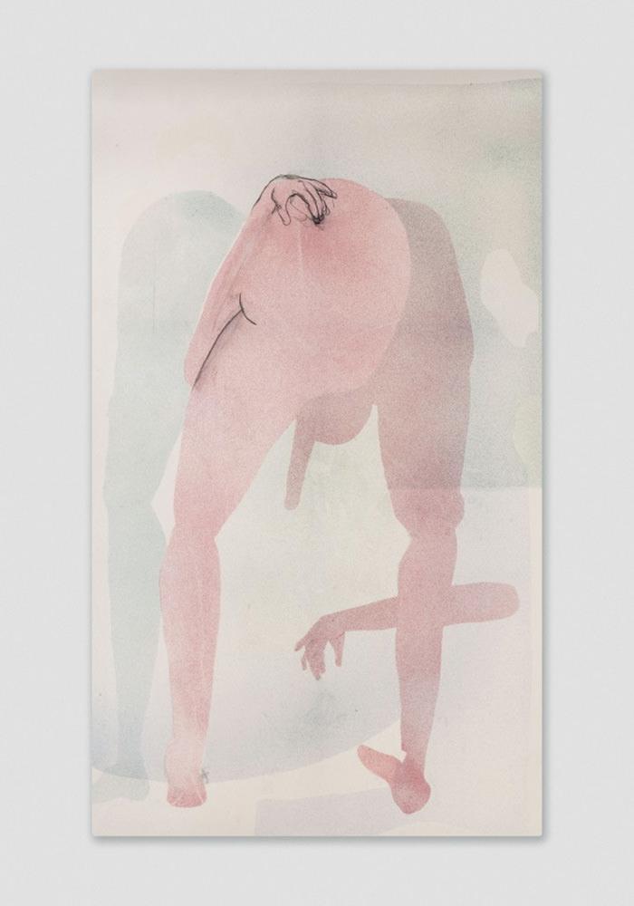 Coffee Table Memories, x-folio (2014)de Matthew Lutz-Kinoy, acrylique sur toile imprimée, 241,3x 142,2 cm.