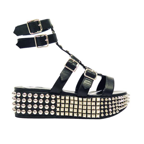 Studded leather sandal, PHILIPP PLEIN.  Selection by Rebecca Bleynie
