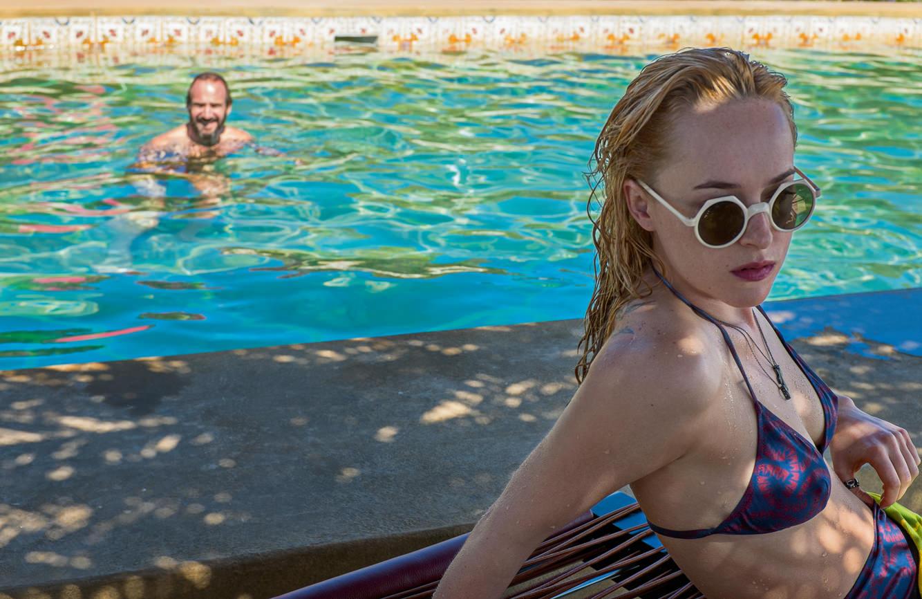 Dakota Johnson in Luca Guadagnino's film A Bigger Splash.