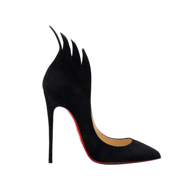 The black heels from Christian Louboutin, Francesco Russo and Santoni