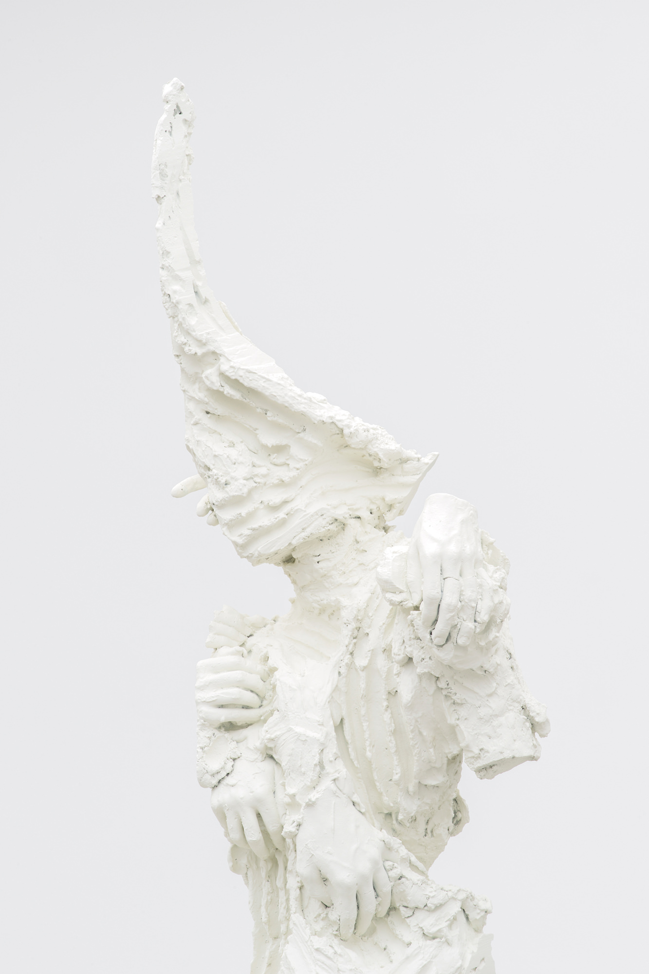 La Licorne (2016) by David Altmejd (detail), bronze, 223 x 97.5 x 80 cm.