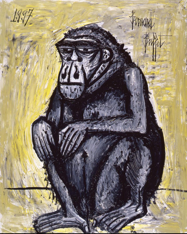 Gorille (1997), huile sur toile, 162 x 130 cm.
