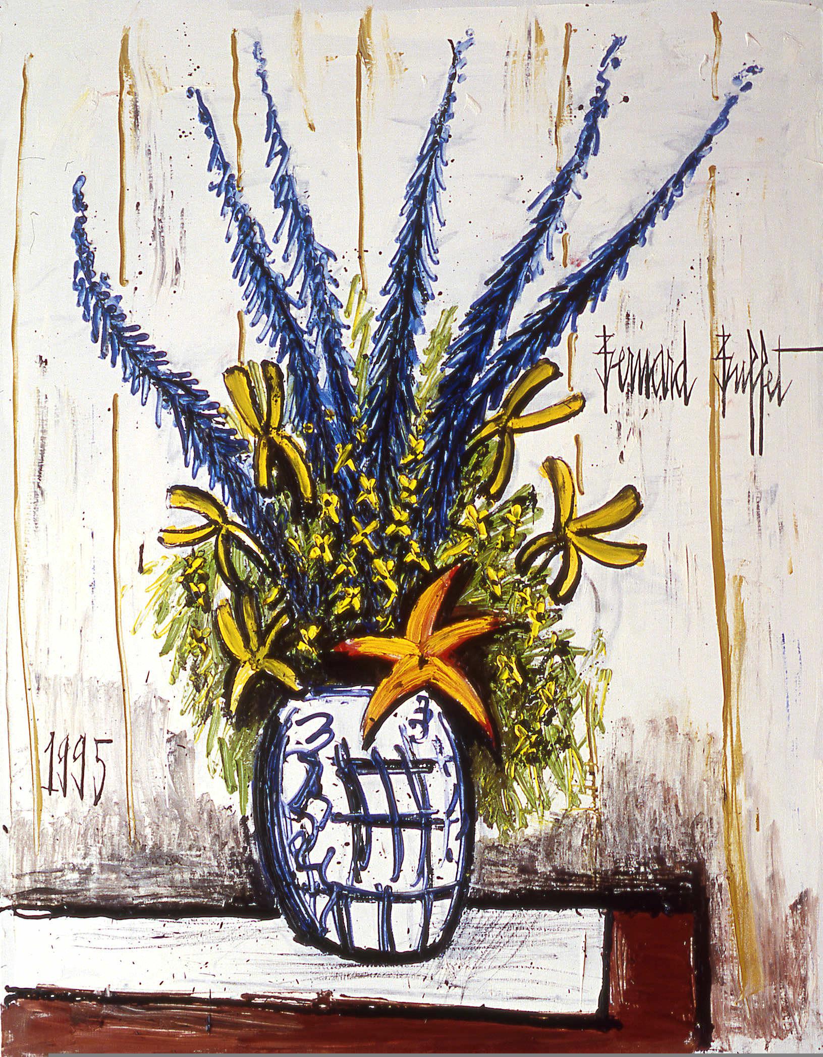Le grand bouquet (1995), huile sur toile.