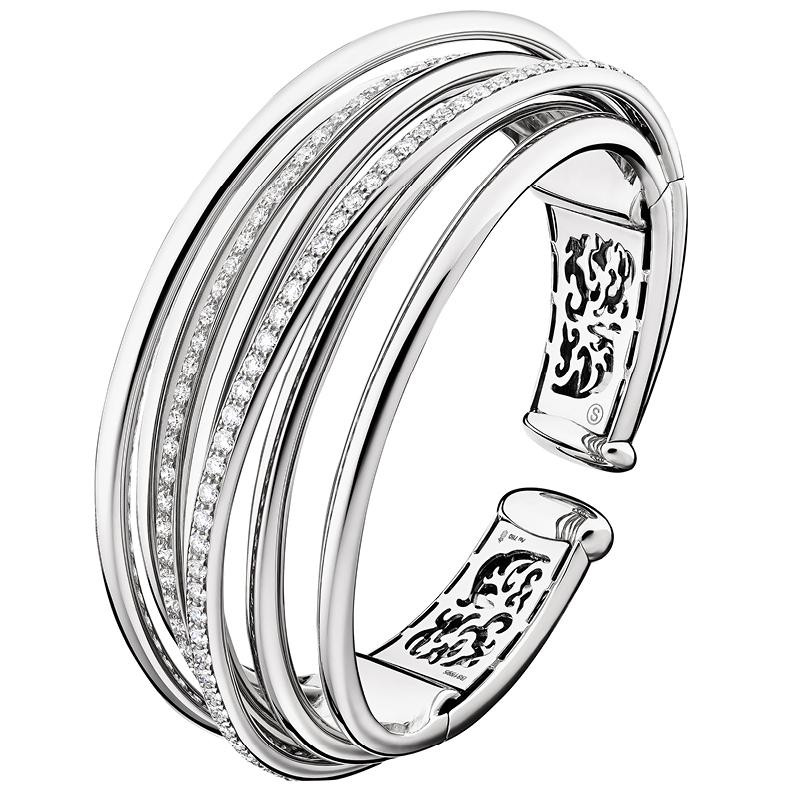"Bracelet ""Allegra"" en or blanc serti de 99 diamants,DE GRISOGONO."