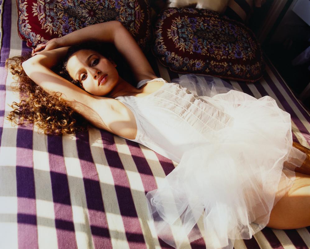 Oulaya Amamra, actrice à Paris.