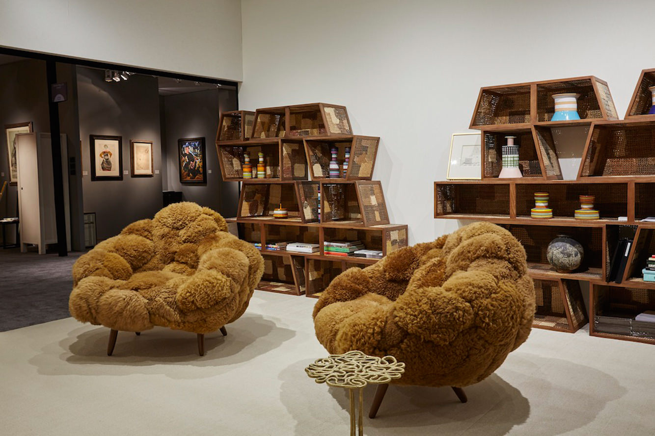 Exhibition view, living-room, 2015. Campana brothers. Photo: Peter Baker. Courtesy of Friedman Benda, Estudio Campana and Adam Silverman.