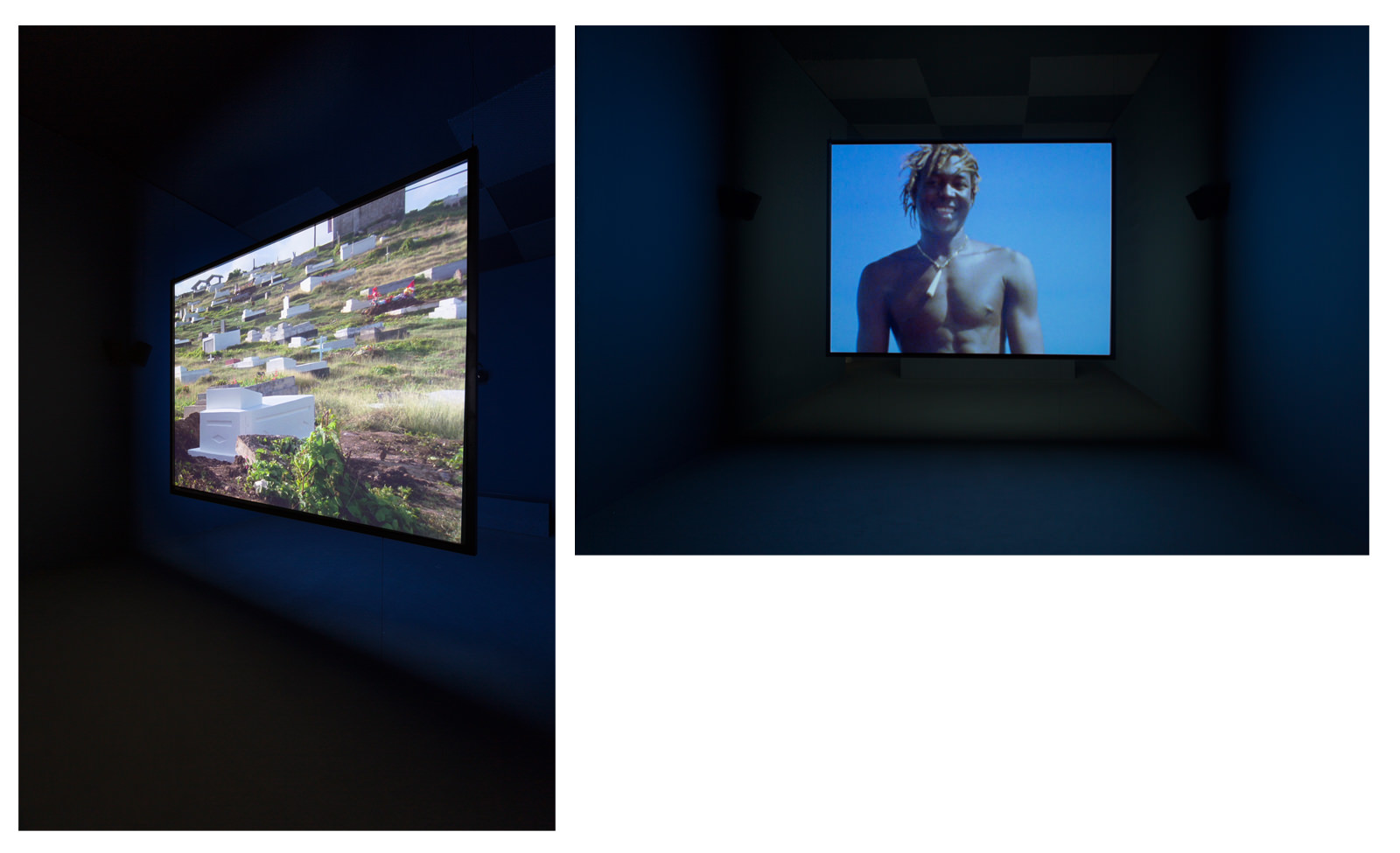 Vues de l'installation Ashes de  Steve McQueen (2014-2015), 56. Esposizione Internazionale d'Arte – la Biennale di Venezia, 2015. Crédit photo : Roberto Marosi. Courtesy of the artist and Marian Goodman Gallery.