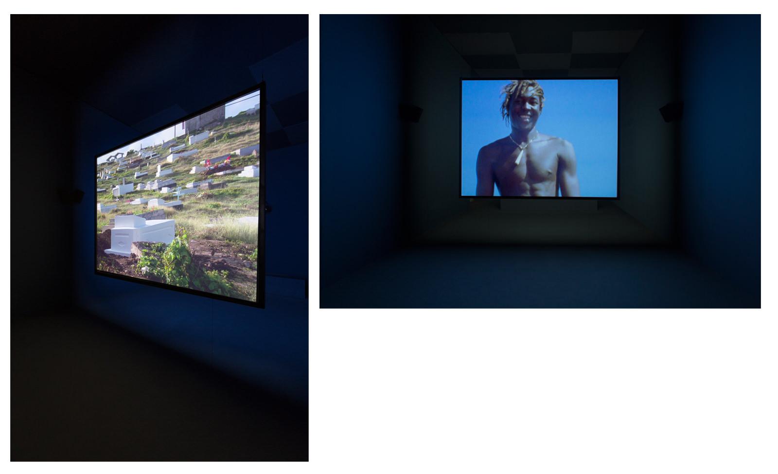Vues de l'installationAshes deSteve McQueen(2014-2015), 56. Esposizione Internazionale d'Arte –la Biennale di Venezia, 2015. Crédit photo : Roberto Marosi.Courtesy of the artist and Marian Goodman Gallery.