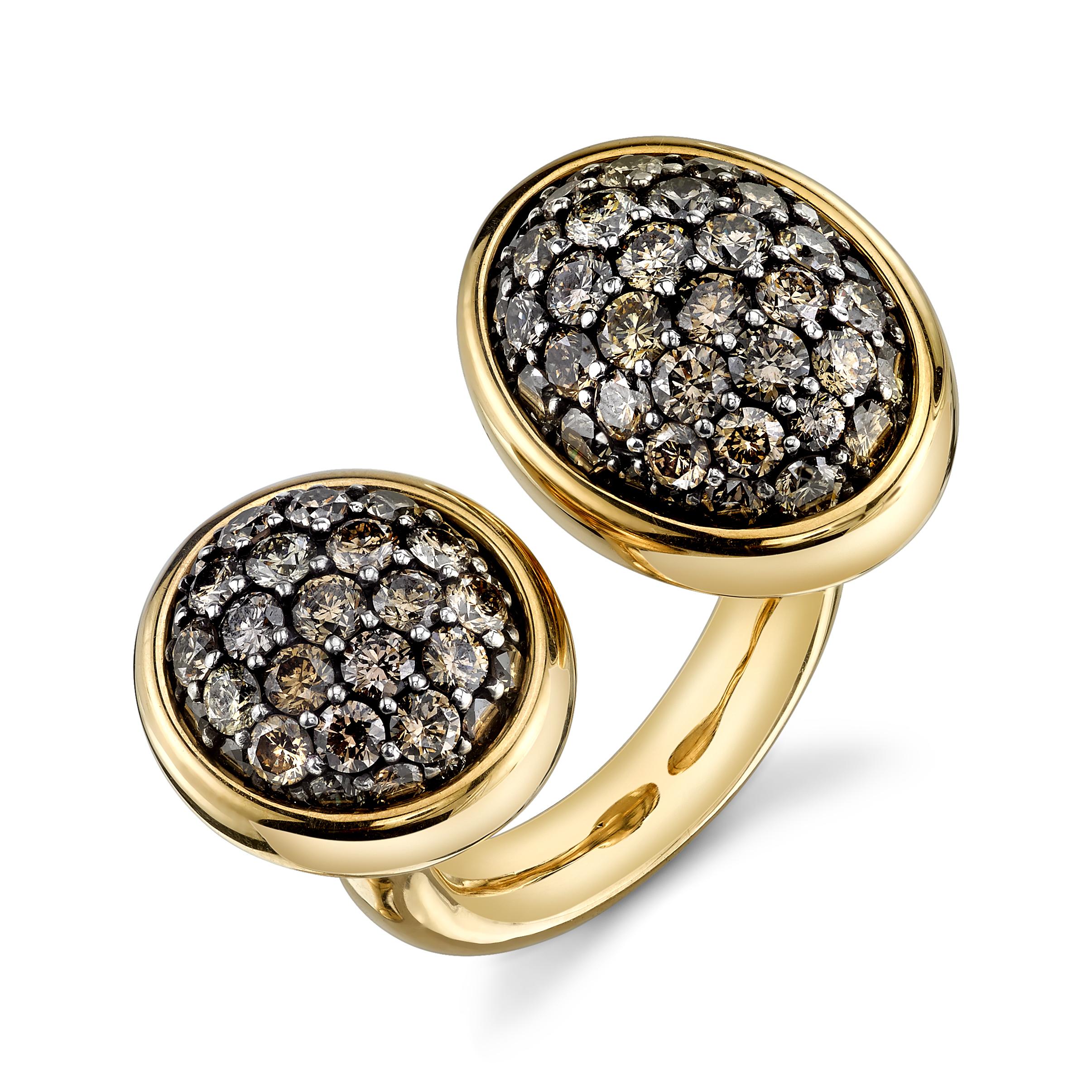 "Bague ""2TAU""en or jaune et diamants, VRAM."
