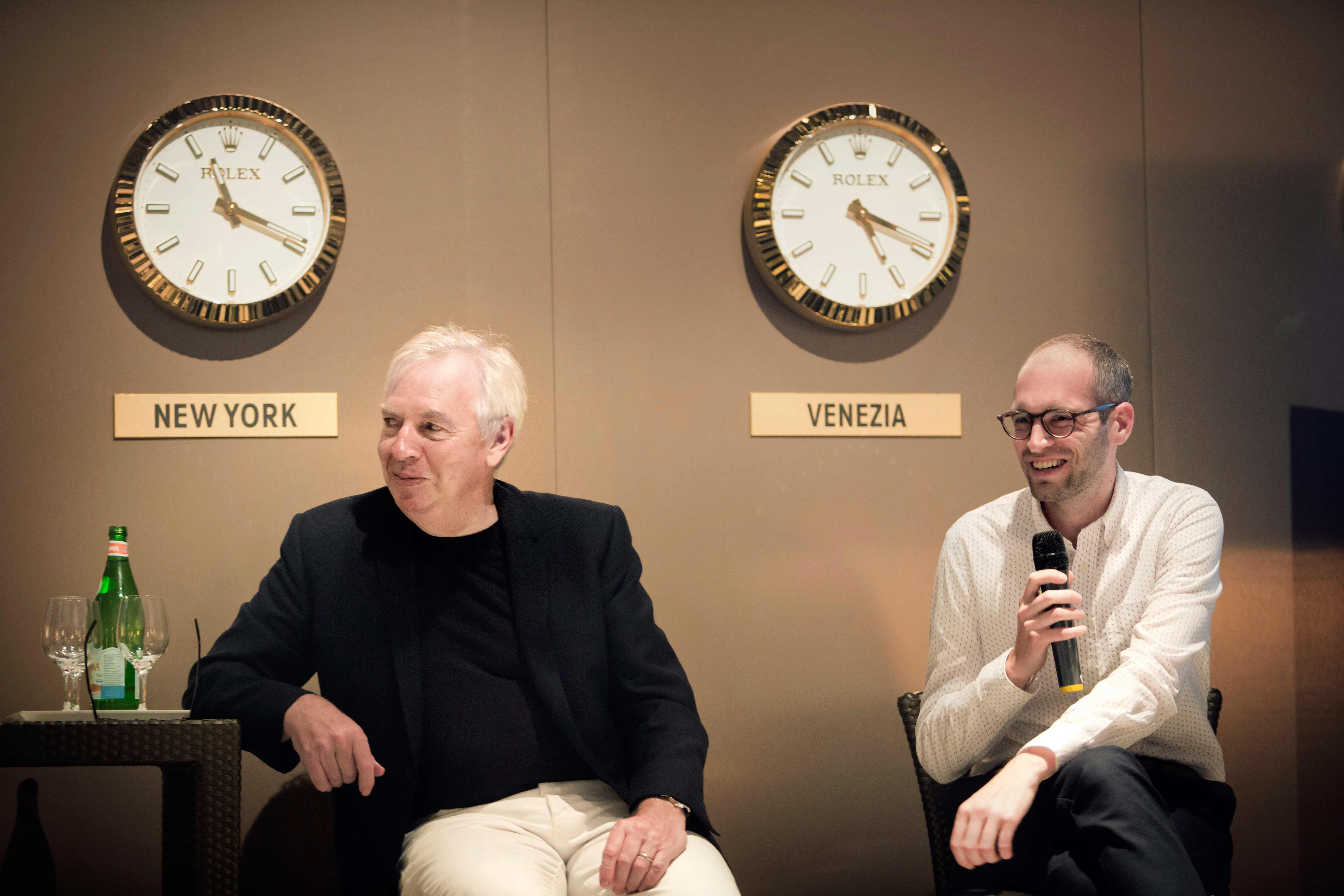 """Rolex introduces its new """"mentor"""", star architect David Chipperfield, and his """"protégé"""""""