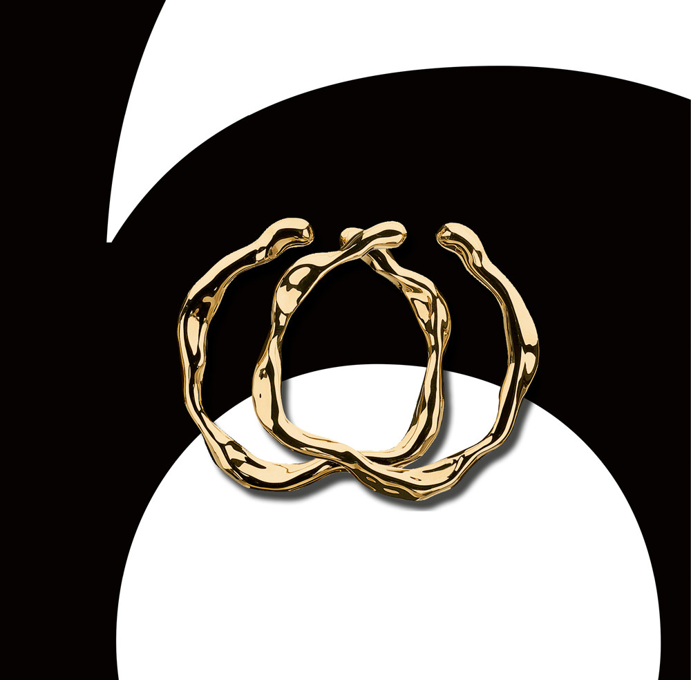 """""""Nougat"""" earrings in yellow-gold by Dior Joaillerie"""