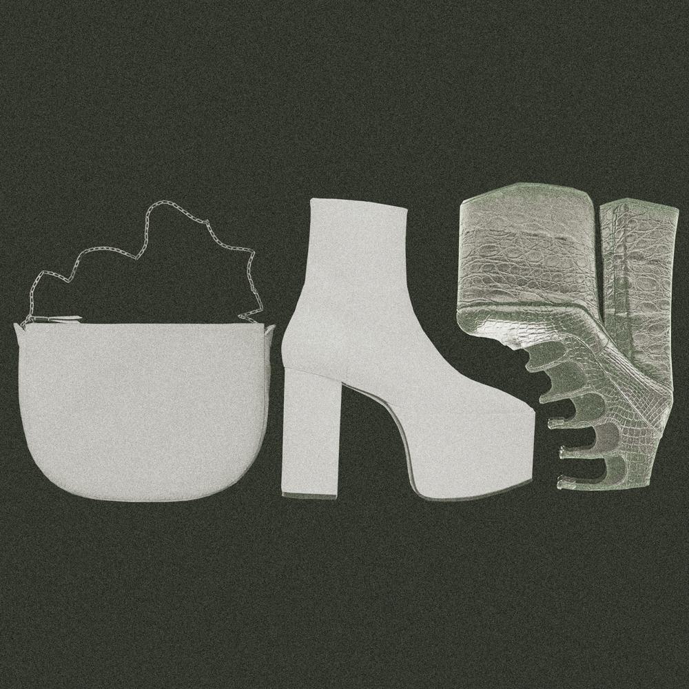 Les accessoires blancs de Céline, Balenciaga et Marc Jacobs