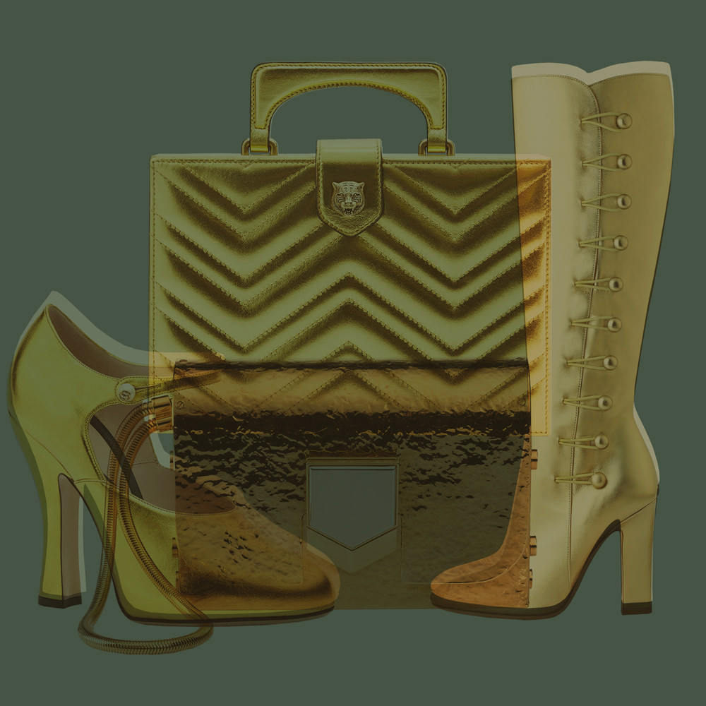 Gucci, Jimmy Choo et Gianvito Rossi : our selection of golden accessories