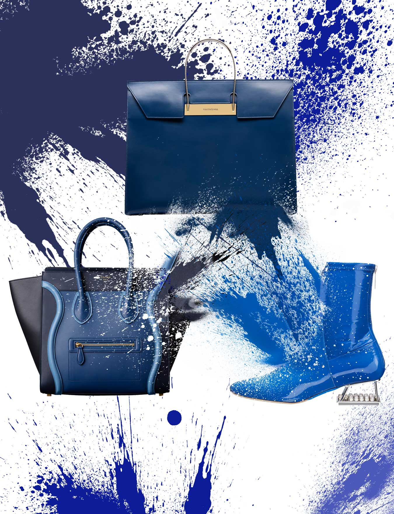 Bold blues electrify this autumn's accessories