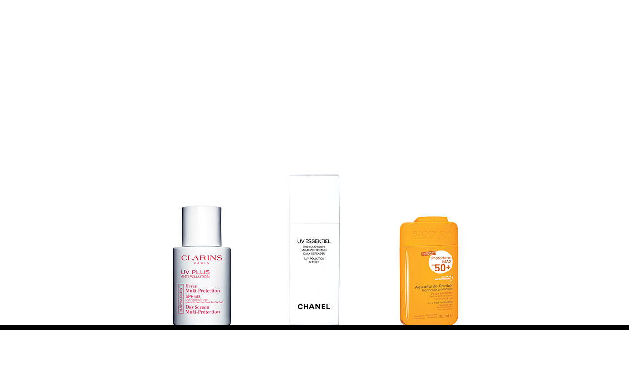 The tiny protective creams by Clarins, Chanel and Bioderma