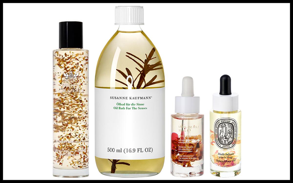 Le best of des huiles infusées de fleurs ou de feuilles
