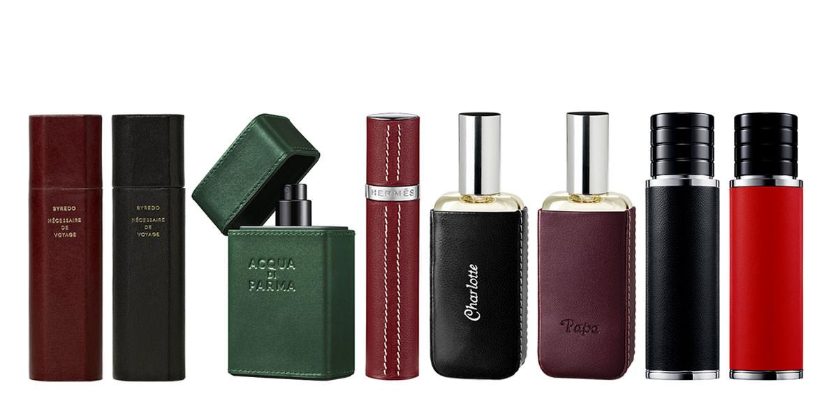 Parfums de sac:  le top five des étuis ou des vapos en cuir