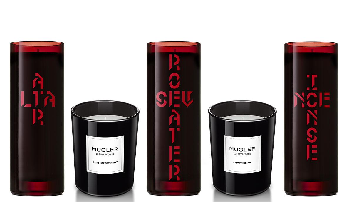 Les bougies minimalistes de Byredo et de Mugler