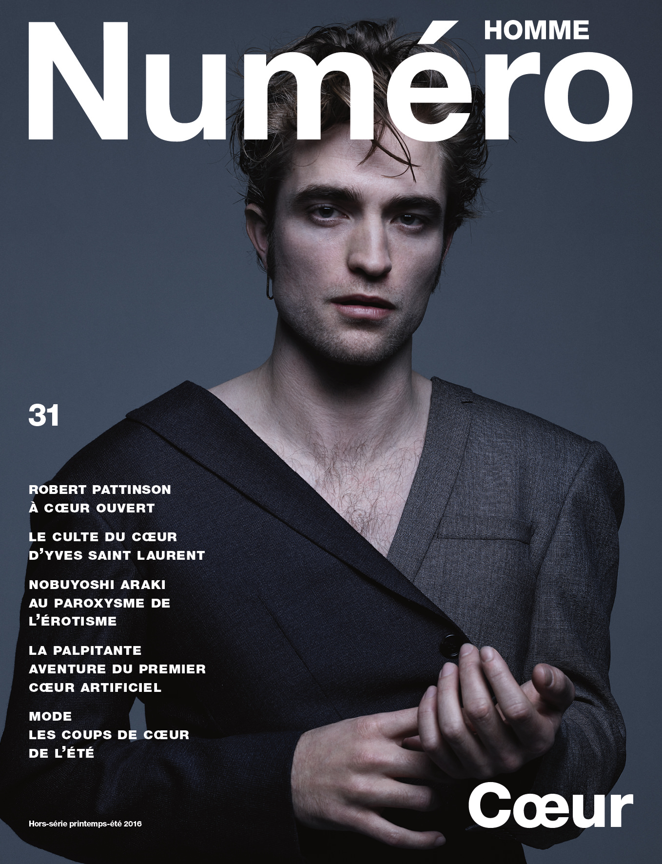 Exclusive: Robert Pattinson, Dior Homme's new face, photographed by Jean-Baptiste Mondino for Numéro Homme's latest cover