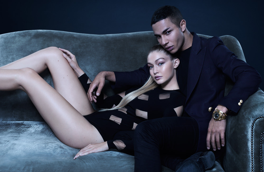 Exclusive interview of Olivier Rousteing, photographed by Jean-Baptiste Mondino with Gigi Hadid