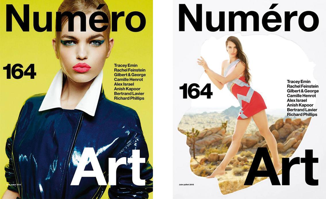 Numéro propose cet été deux couvertures réalisées en collaboration avec des artistes internationaux