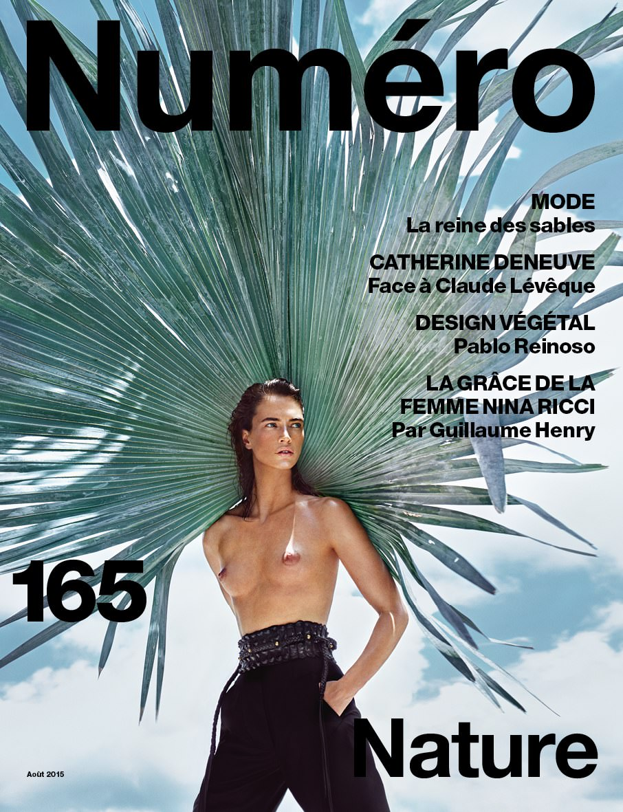 Crista Cober covers the Nature issue of Numéro photographed by Txema Yeste