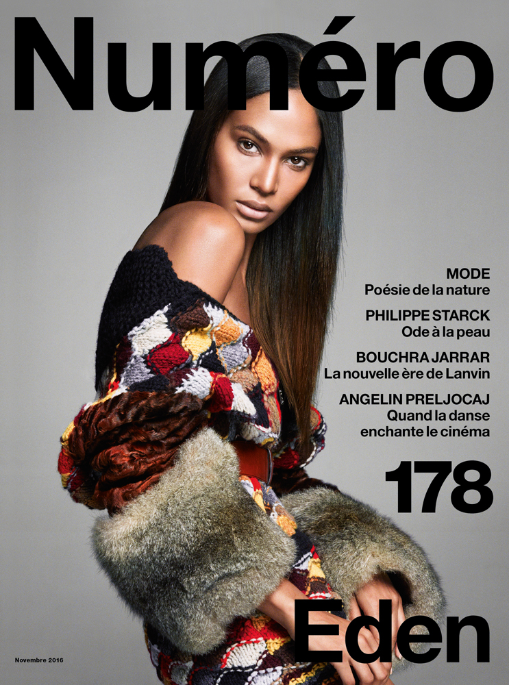 joan smalls en couverture du num ro de novembre. Black Bedroom Furniture Sets. Home Design Ideas