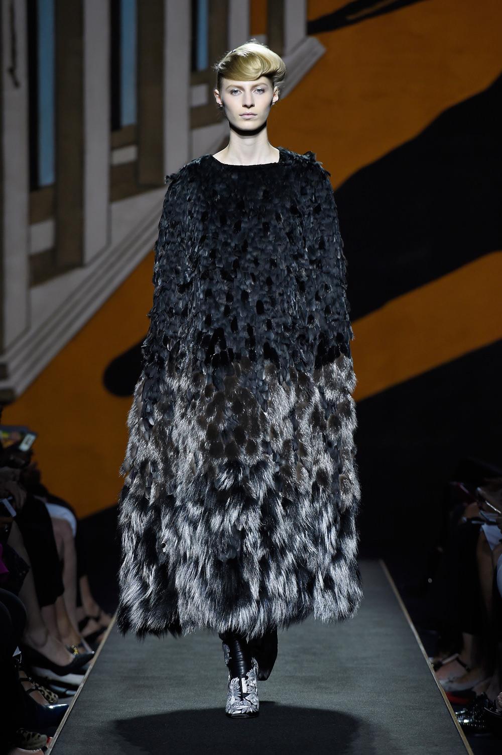 Karl Lagerfeld presents Fendi's first Parisian runway show