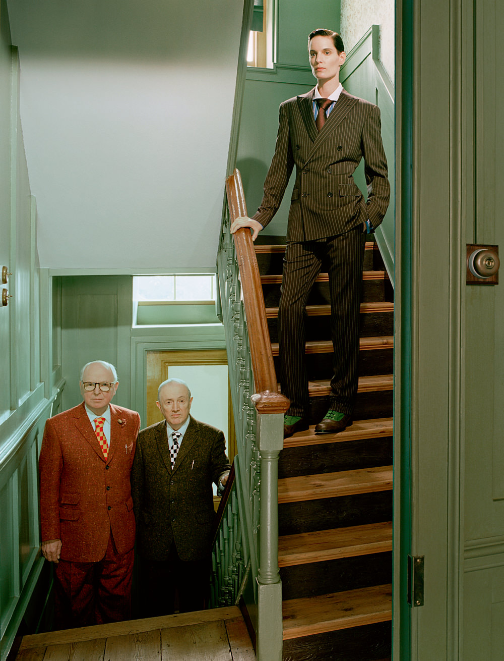 Artists Gilbert & George teamed up with photographer Miles Aldridge
