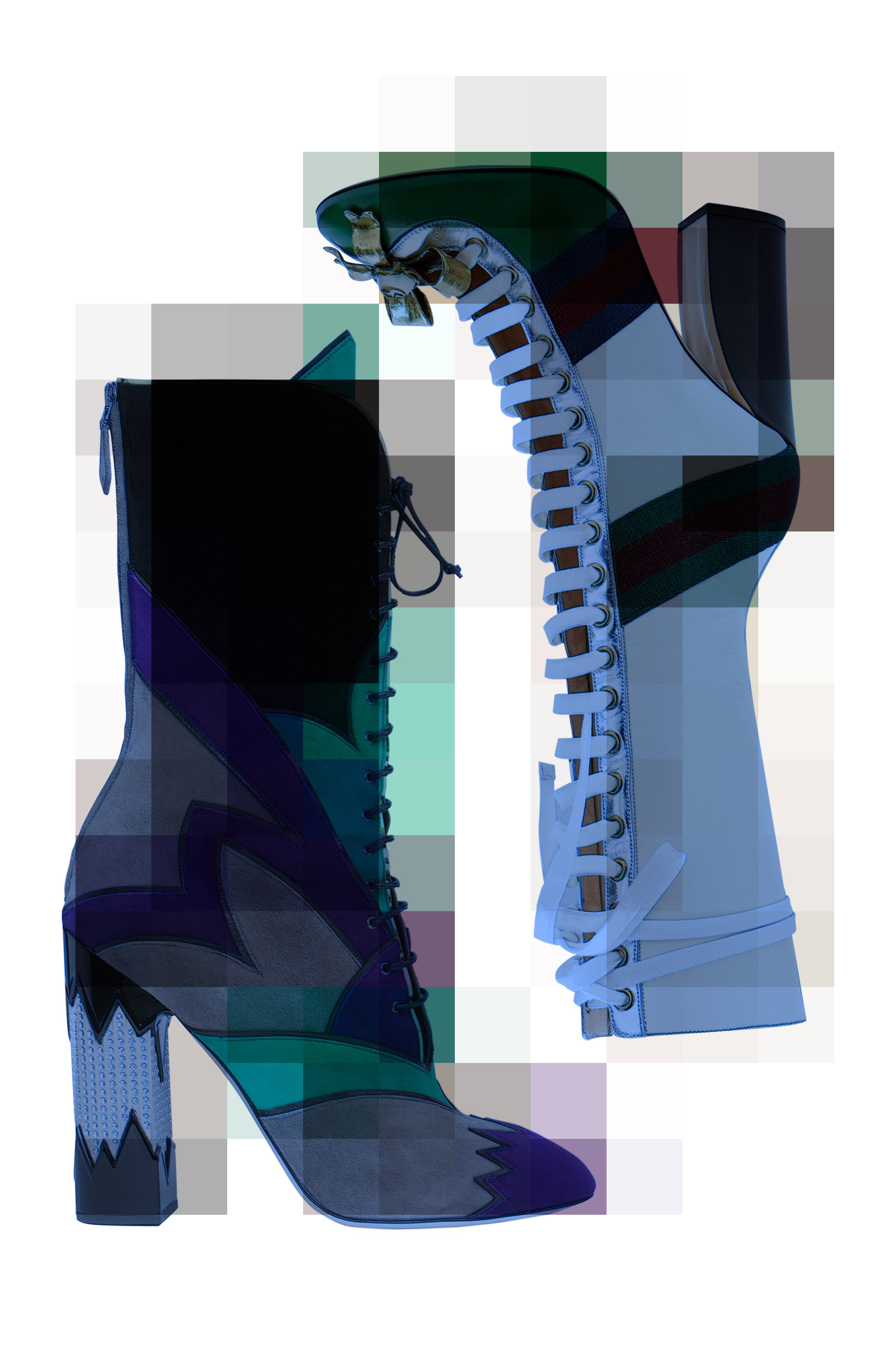 Miu Miu and Gucci's laced boots