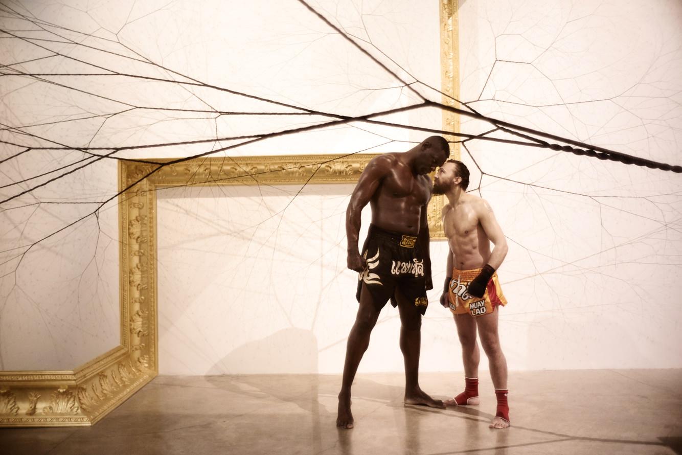 L'artiste Mathias Kiss vs le boxeur Patrice Quarteron, un art du combat
