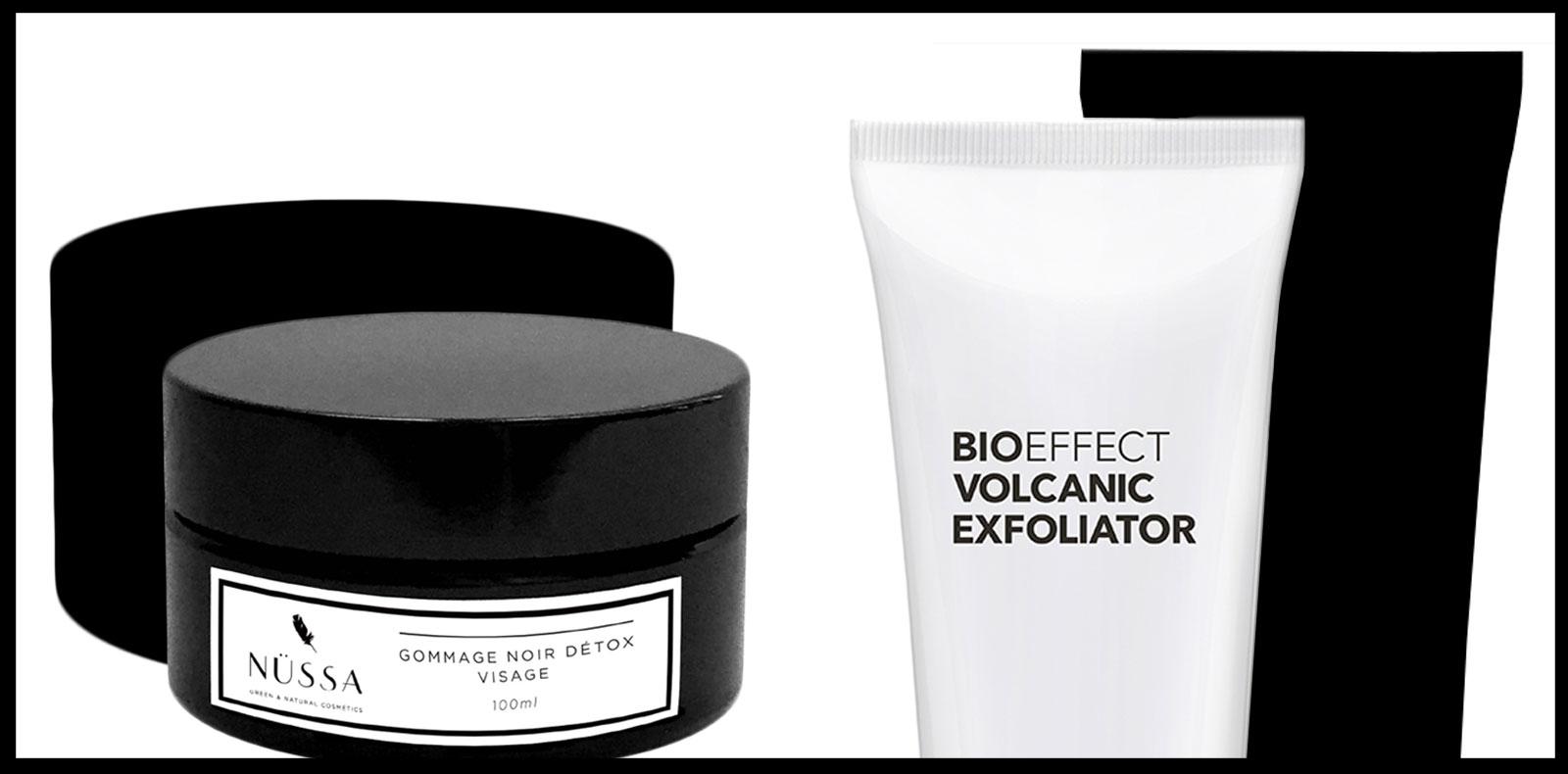 Exfoliants, formules volcaniques