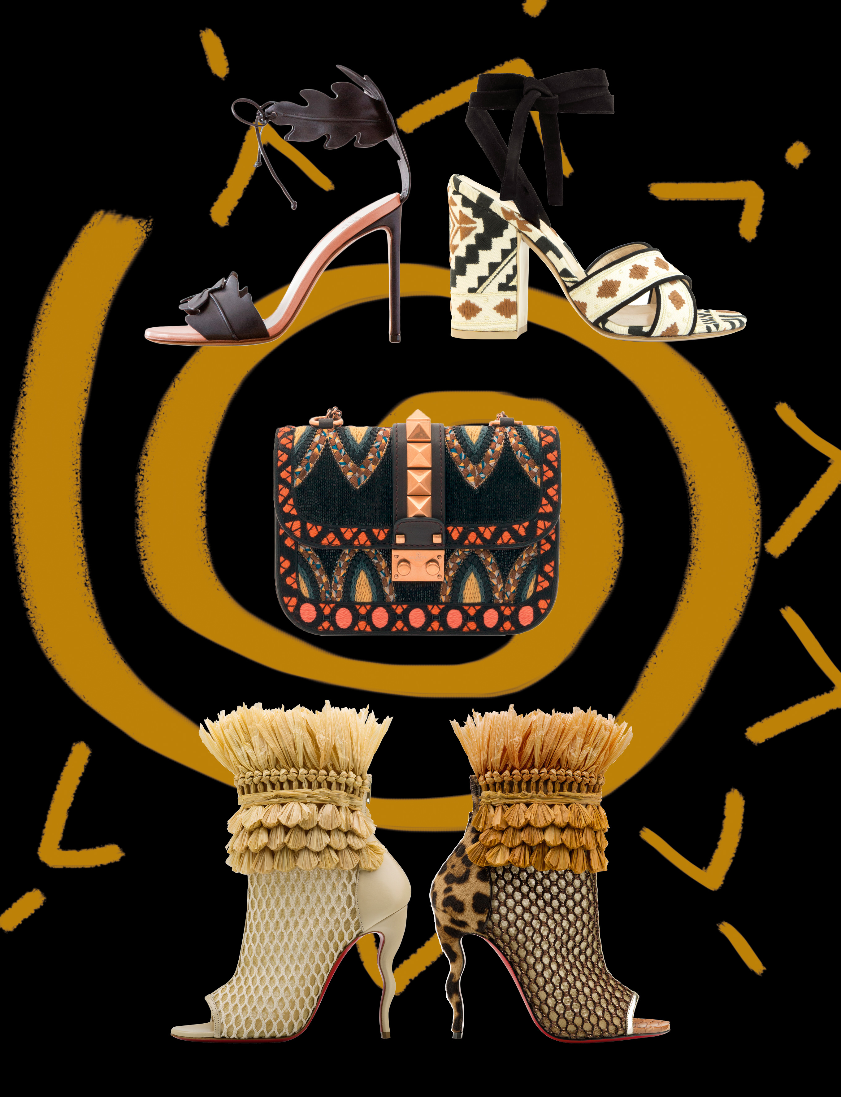 Accessories of tribal inspiration