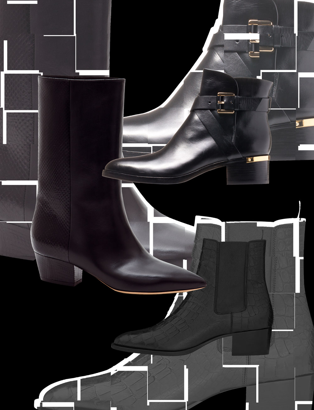 The rock'n'roll flat boots