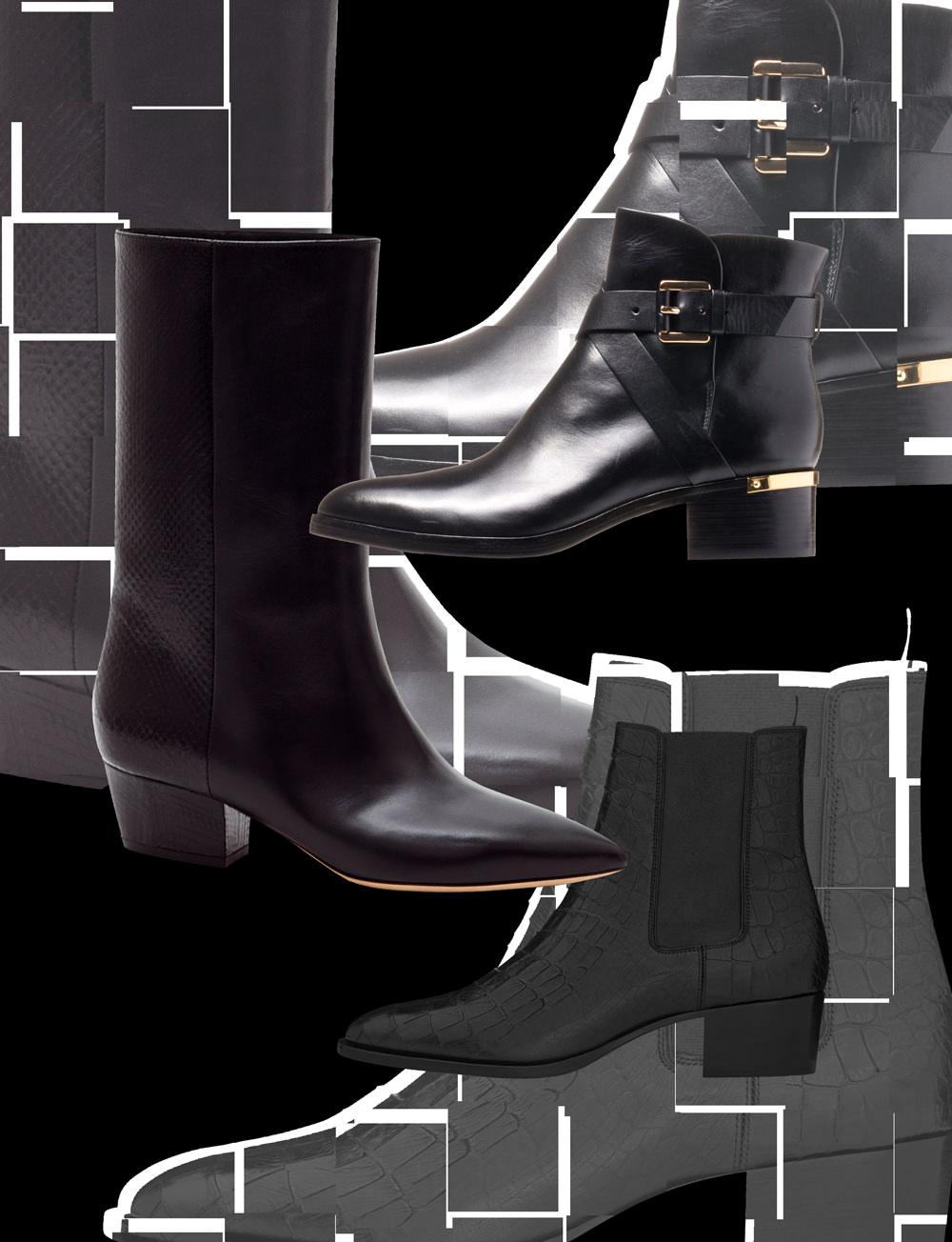 Les boots plates à l'élégance rock'n'roll