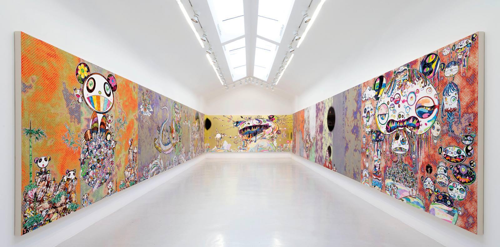 Portfolio : les œuvres exubérantes de Takashi Murakami à la Galerie Perrotin
