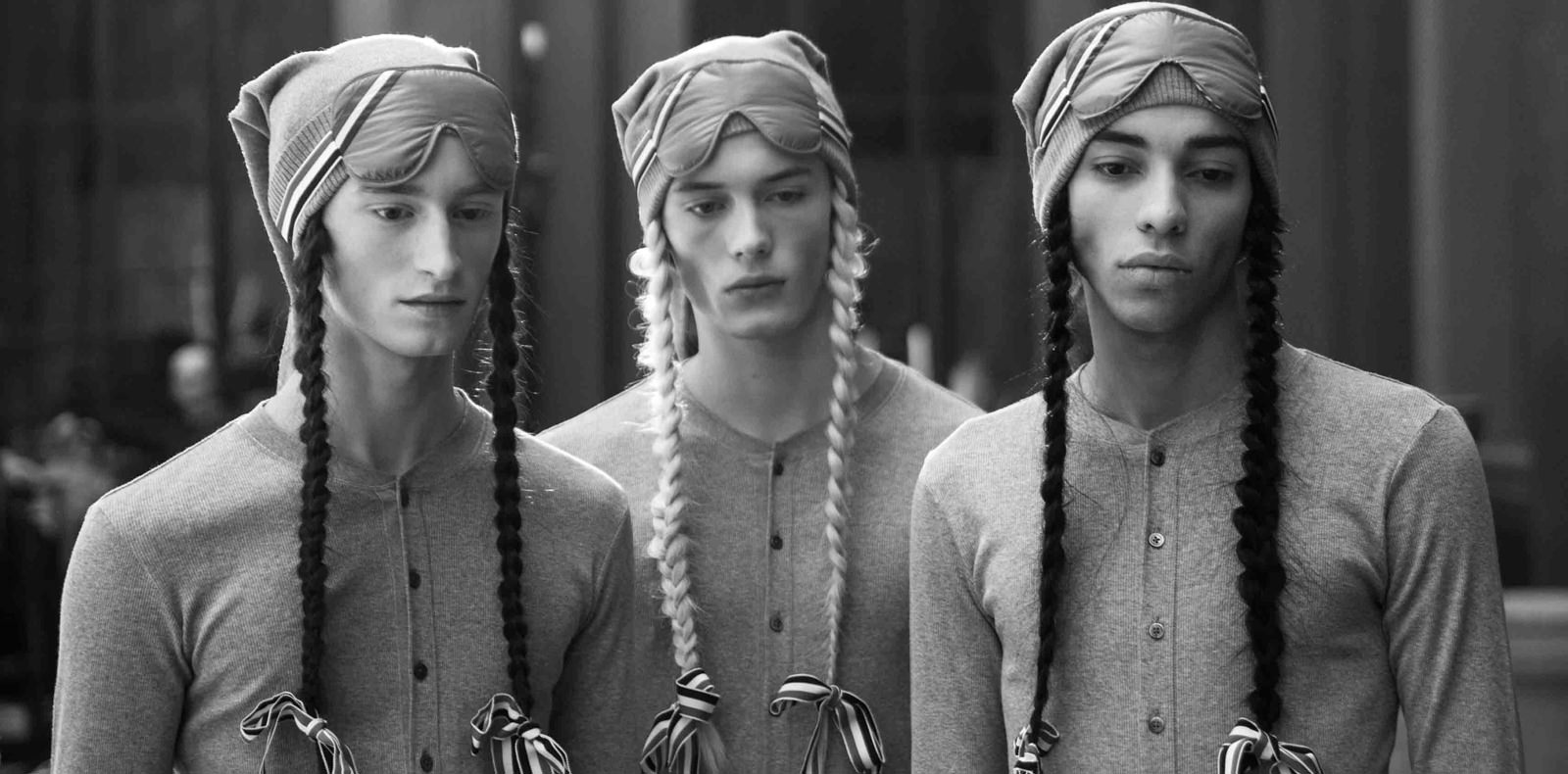 Backstage : Thom Browne fall-winter 2018-2019 collection seen by Mehdi Mendas