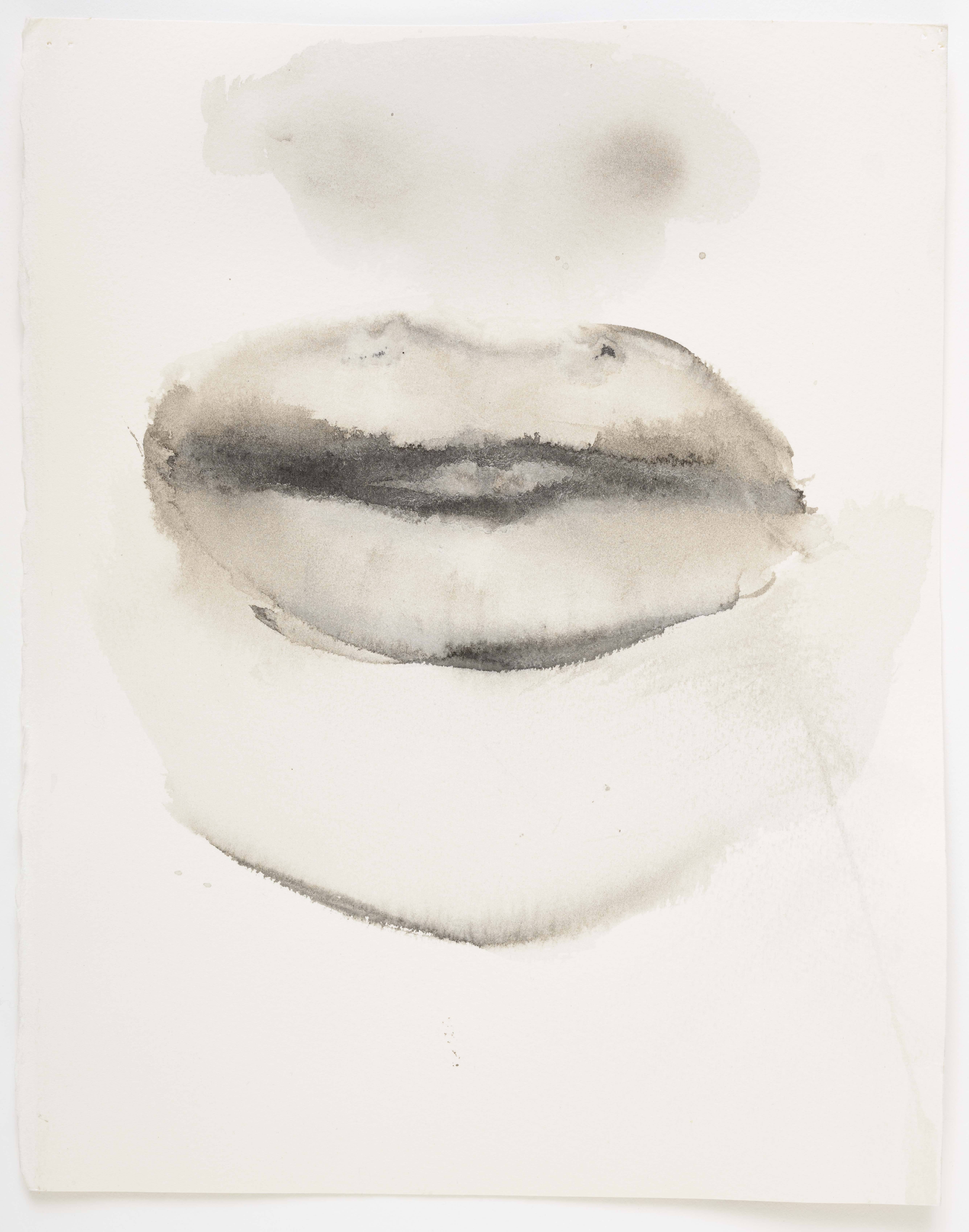 """Marlene Dumas, """"She speaks"""", 2015-2016, Ink wash and metallic acrylic on paper 11 7/8 x 9 1/4 inches 30 x 23.5 cm. Exposition """"Myths & Mortals"""", Galerie David Zwirner, New-York"""