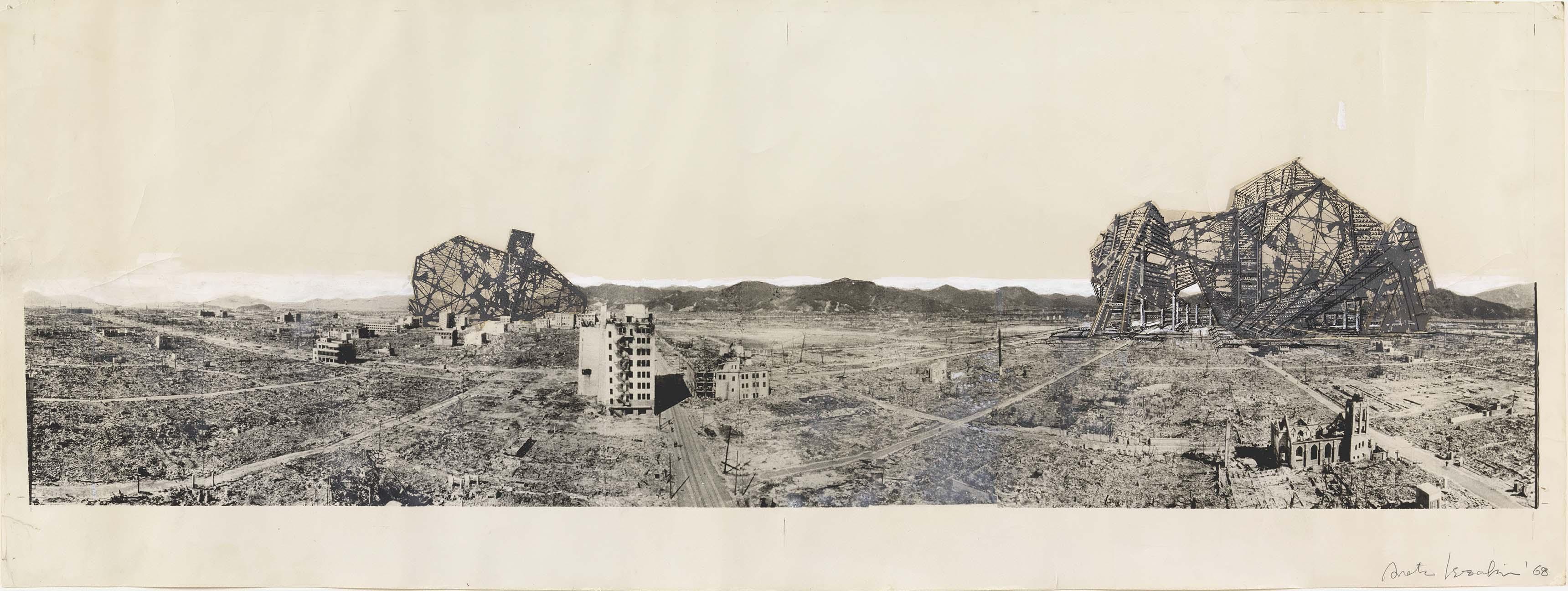 Isozaki, Arata, Re-ruined Hiroshima, 1968.