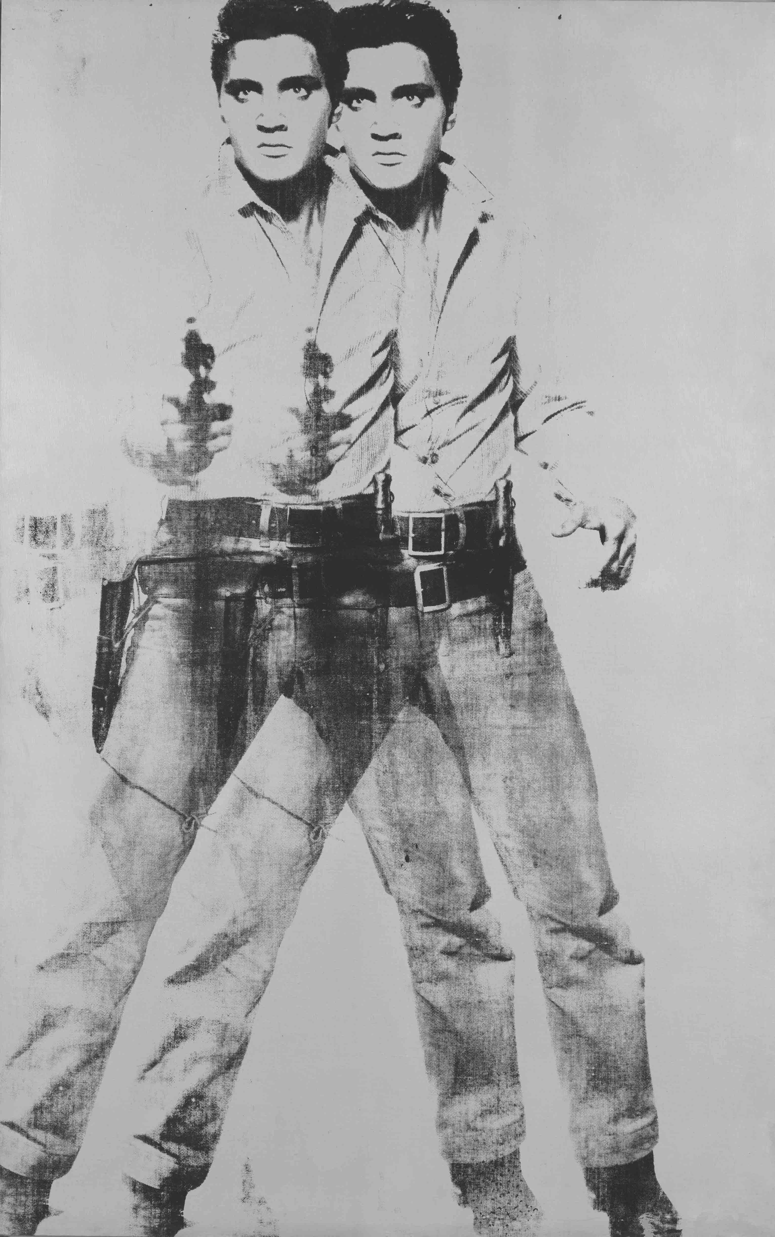"Andy Warhol, ""Double Elvis"" (1963)."
