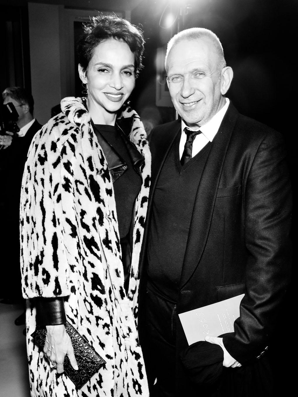 Farida Khelfa et Jean-Paul Gaultier