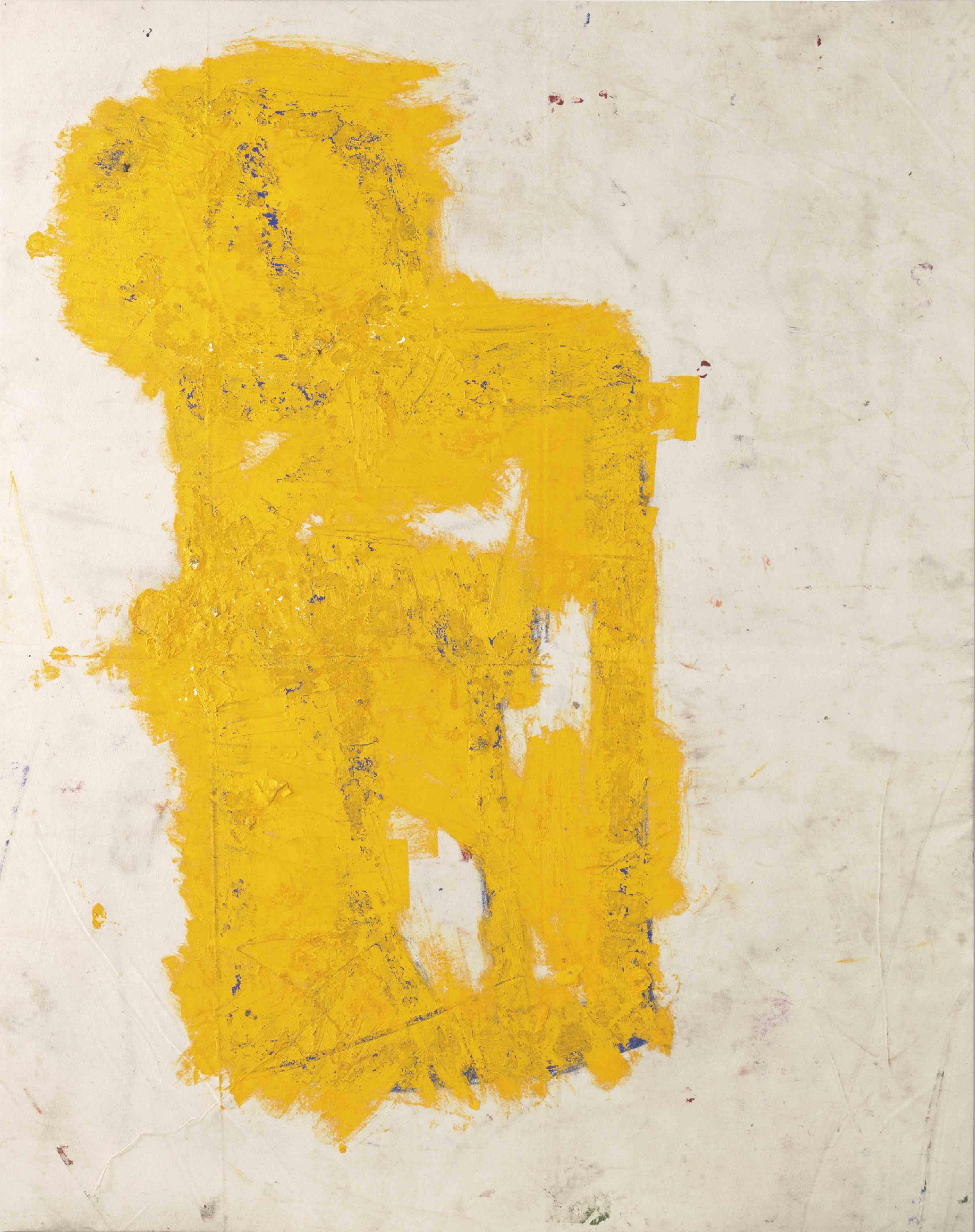 """Lot 13. Joe Bradley (né en 1975), """"Can"""", signé, titré et daté 'Joe Bradley 18 Can' (sur le revers), huile sur toile. 148.6 x 116.8 cm. Réalisé en 2018. Estimation : €150,000–200,000 ($190,000–240,000)."""
