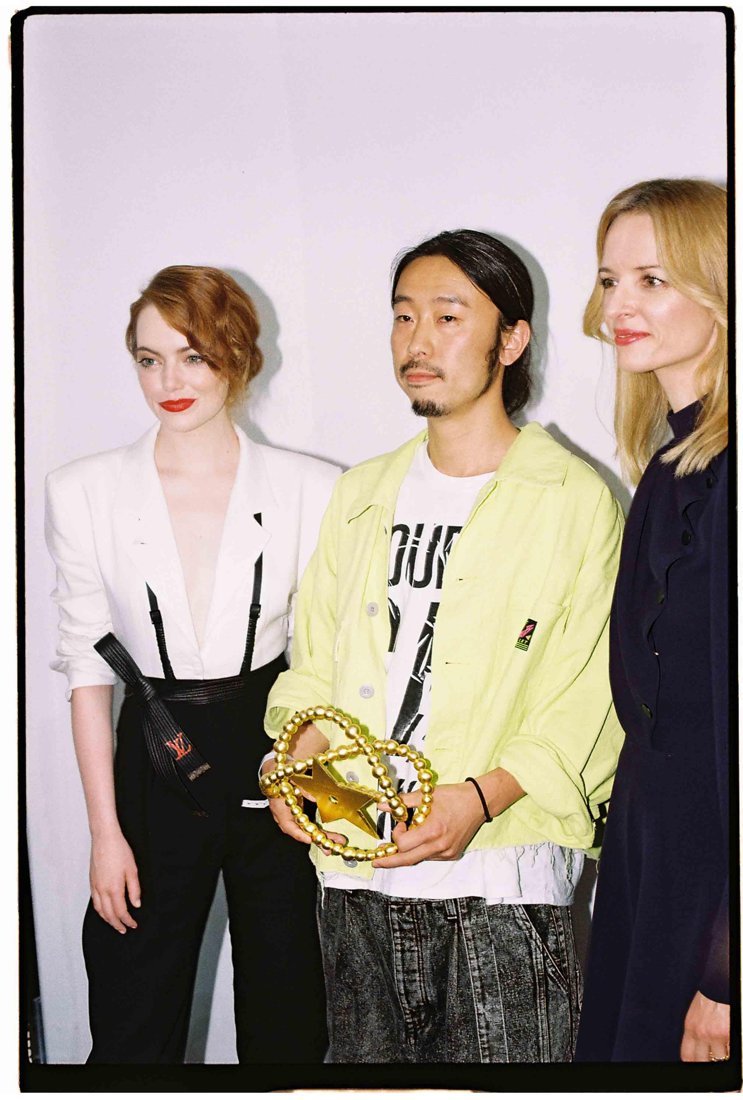 Emma Stone, Masayuki Ino et Delphine Arnault