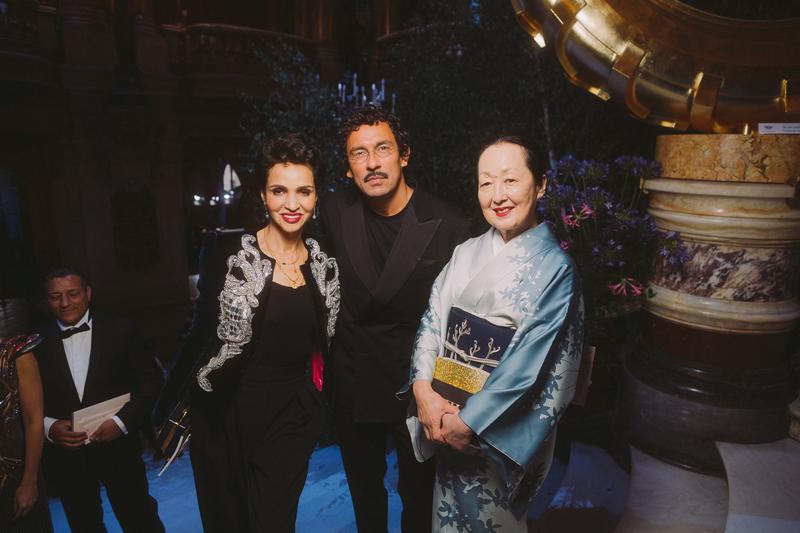 Farida Khelfa, Haider Ackermann et Setsuko De Rola Klossowska