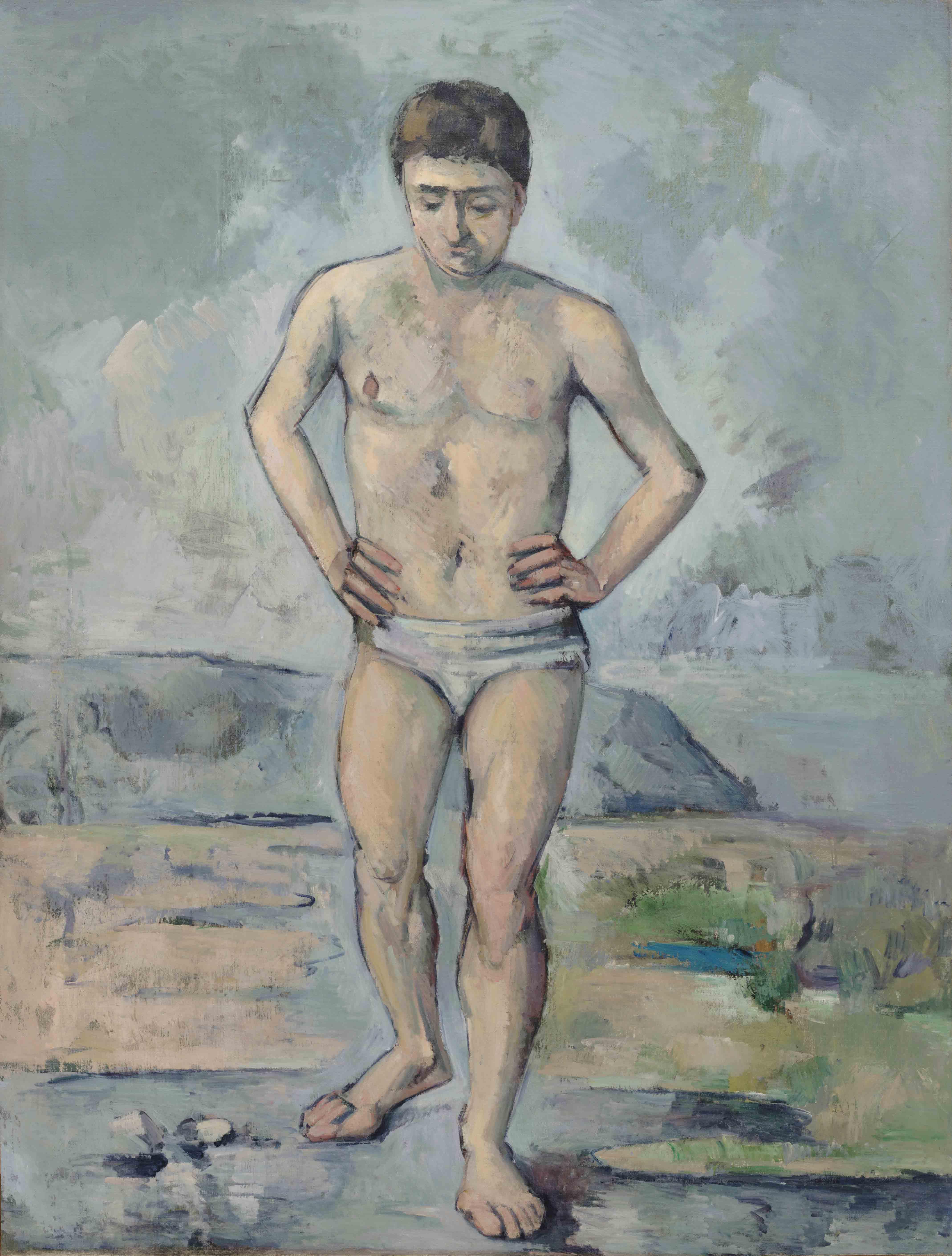 """Paul Cézanne, """"Le Baigneur"""" (vers 1885)."""