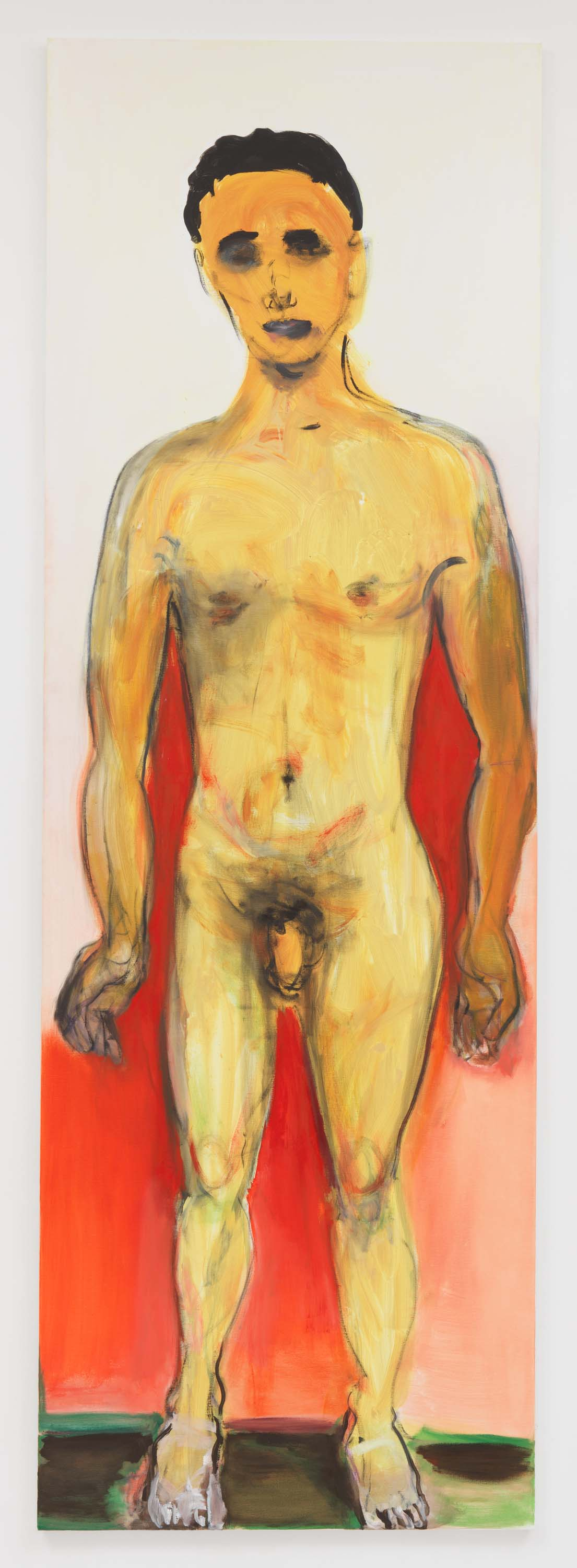 "Marlene Dumas, 2017, Oil on canvas, 118 1/8 x 39 3/8 inches 300 x 100 cm. Exposition ""Myths & Mortals"", Galerie David Zwirner, New-York"