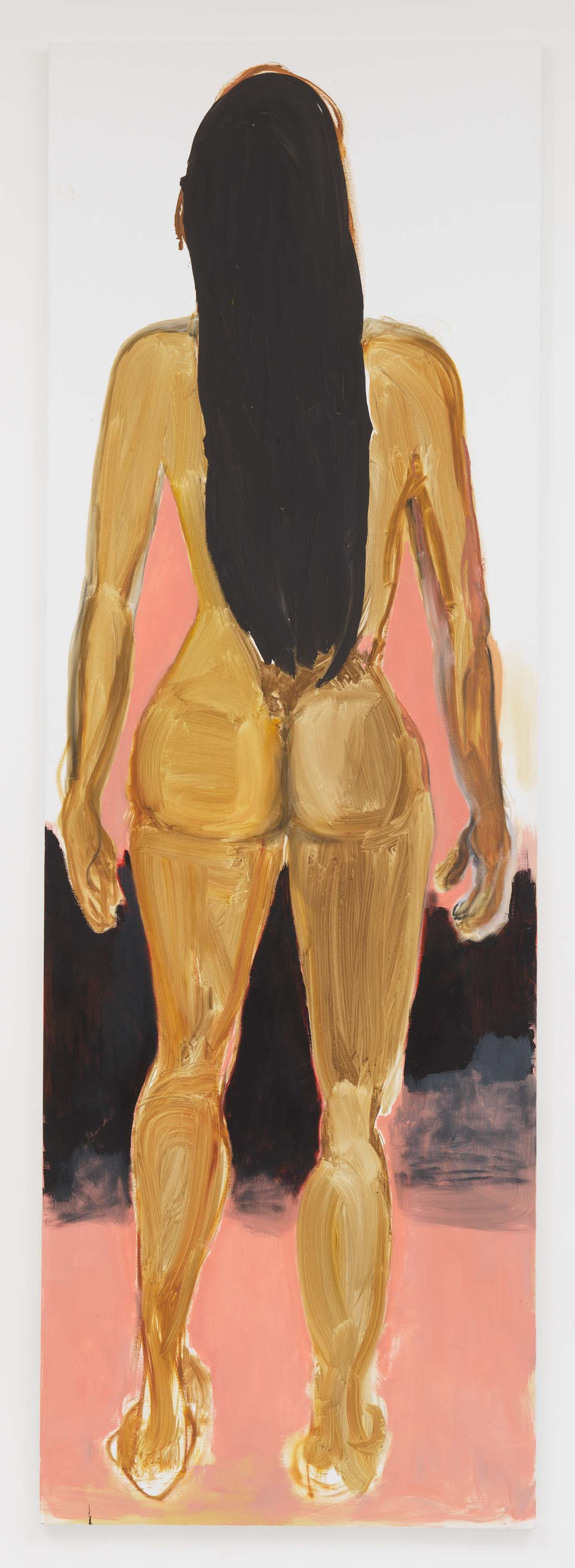"Marlene Dumas, 2017, Oil on canvas 118 1/8 x 39 3/8 inches 300 x 100 cm. Exposition ""Myths & Mortals"", Galerie David Zwirner, New-York"